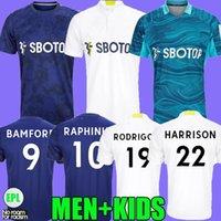 21 22 Leeds Away Jerseys Fans Versão 2021 2022 Firpo Junior Harrison Harrison Harnandez Costa Bamford Phillips Raphinha Men Kits Kits Camisa de Futebol