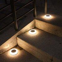Outdoor Solar Lawn Yard Led Lights Buried Garden Light Waterproof PathWay Floor Under Ground Spotlight Lamp