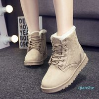 fashion-Women Boots Winter Warm Snow Boots Women Faux Suede Ankle Boots For Female Winter Shoes Plush Shoes