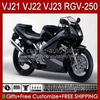 Cuerpo para Suzuki RGV250 SAPC VJ22 RGV-250 Panel 1990 1991 1992 1993 1994 1995 1996 20hc.48 Black Factory RVG250 VJ 22 RGVT-250 RGVT RGV 250CC 250 CC 90 91 92 93 94 95 96 Fairing