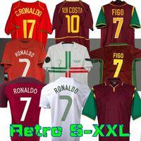 1998 1999 2010 2012 2002 2004 Retro Soccer-Trikots Rui Costa Figo Ronaldo Nani Footh Shirts Camisetas de Fútbol Portugal Uniformen S-XXL