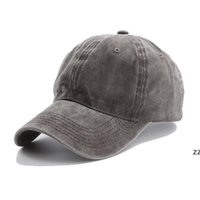 15styles Solid plain Baseball cap ladies washed cotton outdoor men women sunhat hat cap snapback party favor HWA6042