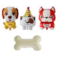 Party Decoration 1pc Happy Birthday Dog Bone Foil Balloons I Love You Baby Ballon Children's Wedding Decors Toys For Kids