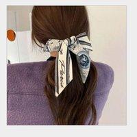 Fashion Girls Bird Grid Stampa headwrap Pony Coads Holder Sciarpa Kerchief Belt Securitivo Stampa Maniglia Borsa Nastro Donna Donna Gioielli per capelli Sciarpe