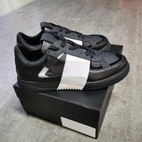 الأحذية الجلدية البيضاء VL7N حذاء نسائي إمرأة رجل ترصيع المتضخم عاكس مدرب مسطح حقيقي منصة عارضة العجل مع مربع APMDR