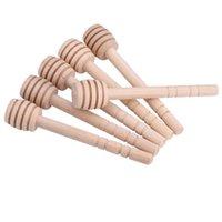 Honey Stick Honey Dippers Cuisine Accessoires 8cm Mini Fourniture en bois Stick Stick Stick Honey Jar Stick