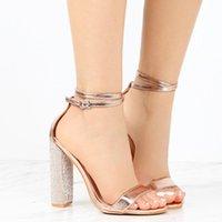 Sandals 2021 Summer Women Rhinestone High Heels Streetwear Slippers Women's Flat-Soled Beach Shoes Plus Size 43