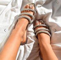 Ayakkabı Terlik Yumuşak Bej Topuklu Sandalet Slaytlar Terler Kadınlar Konfor Siyah Düz 2021 Katı Seksi Toka Kayış PU Casual Basic Fa