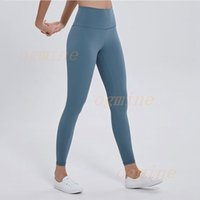 2021 lulu lululemon lemon Fitness Athletic Solid Pants Women Girls High Waist Running Yoga Outfits lu Ladies Sports Full Leggings Ladies Pants Workout