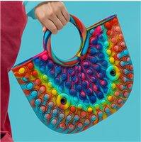 DHL FREE Silicone Rodent Control Pioneer Bag Rainbow Color Monochrome Large Storage HandBag Puzzle Press Bubble Music