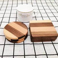 Wooden Coaster Placemats Walnut Wood Non-slip Cup Mat Insulated Teacup Pad Heat Resistant Home Tea Coffee Cup Pad