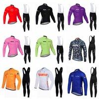 Strava equipe profissional ciclismo mangas compridas jersey bib calças conjunto respirável venda quente mtb equipamento de ciclismo esportes ao ar livre 102913