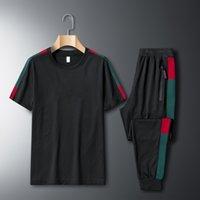 Мужская дизайнерская одежда 2021 летний мужской трексуит старший напечатанный спортивная одежда куртка толстовка или брюки пальто спортивные толстые кофты хип-хоп мужские S 2 частей набор беговых костюмов