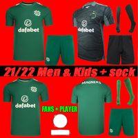 Uomini + Kids Kit 2022 Celtic Soccer Jerseys Casa Away Edouard 21 22 Johnston Ajeti Griffiths McGregor Forrest Bitton Elyounoussi Christie Uniformi di calcio Fans + Player