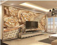 Özel Perakende 3D Duvar Kağıdı Lüks Elmas Çiçek Takı Mutfak Duvar Kağıtları Ev Dekor Boyama Duvar