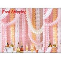 Висячие гирлянды четырехлистный клевер баннер бумаги цветы цветы кисточки свадебные свадьбы декор рождественские украшения многоразовые 3,6 м 21 цвет BAX RTW43