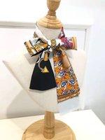 2021 новый шарф парижский семейный принт женский шелковый шарф мода головы шарф марка маленький галстук ручка мешок ленты маленькие длинные шарфы