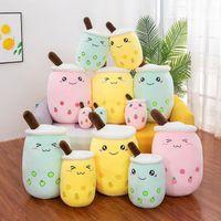 Milch Tee Plüschpuppen Spielzeug Tier 24 cm Plushie Gebraute Tiere - Gefüllte Cartoon Zylindrische Körperkissen Tasseförmiges Kissen