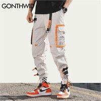 Gonthwid múltiples bolsillos de carga harem jogger pantalones hombres hip hop moda casual pista pantalones streetwear harajuku hipster sweetpants t200104