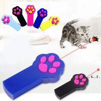 Nova forma de pegada LED Light Laser Brinquedos Laser Tease Engraçado Cat Rods Pet Gato Brinquedos Criativo FWA4176