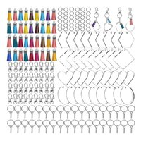Keychains 200Pcs Acrylic Keychain Blanks With Tassels Kit Bulk, Snap Hooks Mini Jump Rings For DIY Projects & Crafts