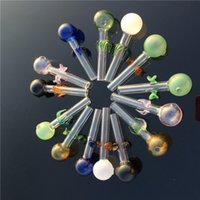 Glass Hand Pipe Smoking Pipes Oil Burner Glass Hookahs Different Colors Water Pipes For Tobacco Smoking pipe