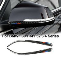 2x Auto Retrovisore Specchio Strip Trim Trim Cover per BMW F30 F31 F32 F33 F34 AL01 Accessori per styling auto
