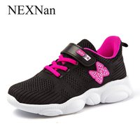 Nexnan Sport Kinder Turnschuhe für Kinder Freizeitschuhe Jungen Turnschuhe Mädchen Schuhe Atmungsaktives Mesh Laufende Schuhe Trainer Schule 210303