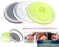 Forno de microondas alimento splash tampa ventilada capa desmontável multi-funcional silicone dobrável fresco