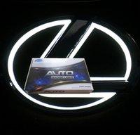 Lexus Oto Amblem için 5D LED Rozetleri Araba Rozeti Sembolleri Logo Arka Işıklar Beyaz Kırmızı Mavi Renk Farklı Boyutları
