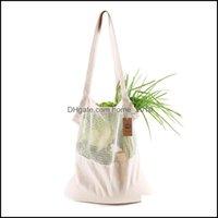 Housekee Organization Home & Gardenreusable Shop Fruit Vegetables Eco Friendly Grocery Portable Bag Tote Mesh Net Cotton String Storage Bags