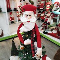 Christmas Decorations 2021 Tree Top Santa Hat Decoration Claus Snowman Elk Cloth Accessories Wall Hanging CB4626 10