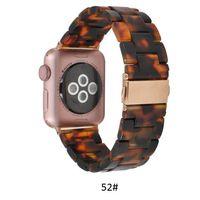 Premium-Harz-Armband für IWATCH Apfeluhr SE 38mm 40mm 42mm 44mm Serie 6 5 4 3 Frauen Herren Band Zubehör Gurt