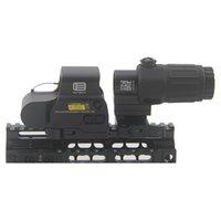 전술 G33 3X 돋보기 및 558 T- 도트 레드 그린 도트 스코프 콤보와 G33 Riflescope Switch 사이드 STS 빠른 분리형 QD 마운트 사냥 라이플 용