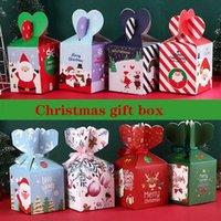 Navidad víspera de dibujos animados colorido manzana embalaje cartones para adultos y niños suministros de fiesta y fiestas creativas cajas de regalo de dulces portátiles