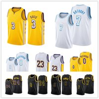 2021 Basketball Jersey Anthony 3 Davis Russell 0 Westbrook Carmelo 7 Anthony Men Mamba