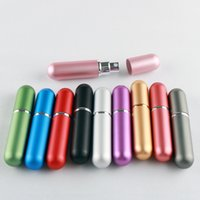 5ml 여행 휴대용 미니 리필 할 수있는 향수 분무기 병 펌프 향기 분무기 병 유리 인테리어 알루미늄 케이스 ZZC5368