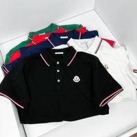Tasarımcı Monclair Casual Polo Nakış Kadınlar Tops Moda Giyim Gömlek Mektup İş 003 Tişört Calssic T-Shirt Kaykay Kısım TNFT