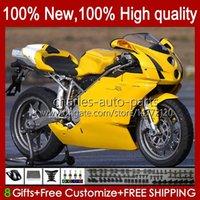 Motocicleta Bodywork para Ducati 749S 999S 749 999 2003 2004 2005 2006 Kit de corpo 27NO.105 749-999 749-999 749-999 749-999 749 990 R 03 04 05 06 Cowling 749R 999R 2003-2006 OEM Fairing Stock Amarelo