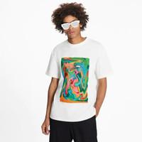 Moda para hombre camisetas Casual Verano Nuevas camisetas con pintura al óleo animal Impresión Unisex Hiphop T-shirts Moda para mujer de alta calidad 2021 Nuevo