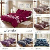 Bedding Sets 2021 Style Flowers Printing 100% Polyester Set 1 Duvet Cover + 1 2 Pillowcases Bed In A Bag (no Sheet).