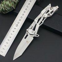 정통 jl 칼 접이식 나이프 휴대용 자기 방위 세이버 야외 칼 포켓 EDC 접는 과일 잠금 해제