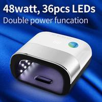 Siminail 48 W Güneş Kurutucu LED Lamba Kürlendirme için LED Lamba Tırnak UV Jel Lehçe Oluşturucu Kurutma 48 W 36 adet 365 405