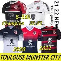 3xl 4xl 5xl Toulouse Munster City Rugby Jerseys 2021 Nova casa longe 2020 Stade Toulousas 2019 Liga Jersey Lentulus Shirts Esportes de lazer
