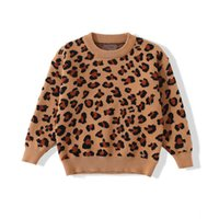 Crochet Pull Sweater Enfants Pull Dessin Chaussures Filles Pullover Vêtements enfants Bébé fille Vêtements automne hiver coton léopard 0-2Y B4248