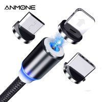 ANMONE Magnetic Micro USB Cable Plug Type C Charge 3 In 1 Cord for iPhone Huawei Samsung XiaoMi Wire