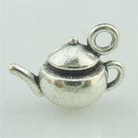 MIC 100 шт. Античный серебристый цинковый сплав 3D чайник CARMMS Подвеска 17.5x13mm DIY ювелирные изделия 350 T2