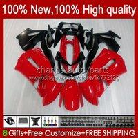 Kit di carenatura per Kawasaki Glossy Red New Ninja 650R ER 6F ER 6 F ER6F-650R 29HC.7 ER6 F 650 R ER6F 06 07 08 ER-6F 2006 2007 2008 Corpo completo