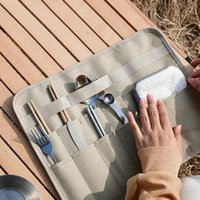 Storage Bags Outdoor Tableware Kits Bag Holder Picnic BBQ Camping Barbecue Cutlery Chopsticks Spoon Fork Organizer