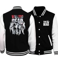 Hommes Designer T shirts The Walking Dead Prinitng Baseball Uniform Spring Automne Fashion Funny Vêtements Brand Streetwear Casual Sweats à capuche à capuche